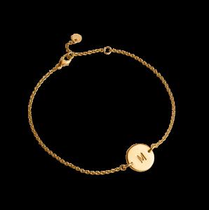 Lovetag Bracelet with 1 Lovetag, förgyllt sterlingsilver