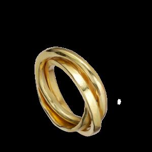 3-in-1 ring, 18-karat gold