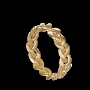 Stor Flettet Ring | 18 Karat Guld