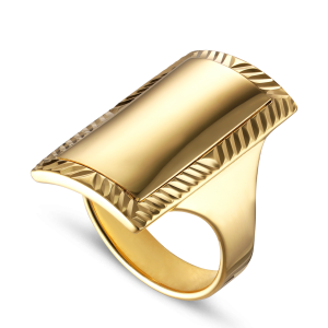 Impression Armour Ring | Blank forgyldt