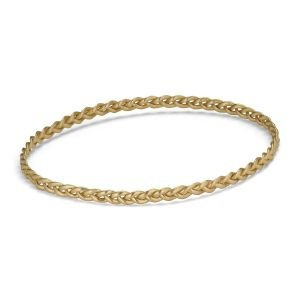 Braided Bracelet, 18 karat gull