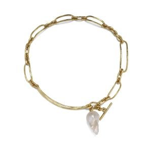 Pearl Bridle Necklace, 18 karat gull