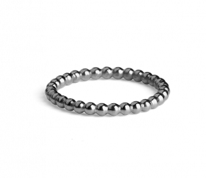 Small Ball Ring, rhodiniertem Sterlingsilber