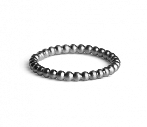 Medium Ball Ring, rhodiniertem Sterlingsilber