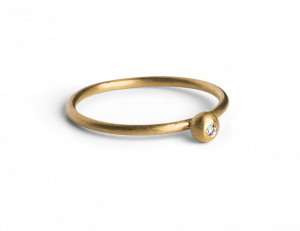 Princess Ring, gold-plated sterling silver