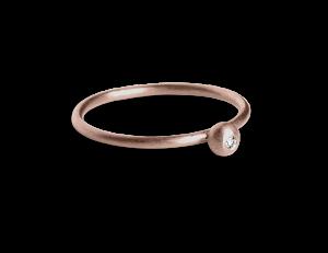 Princess Ring, rosaforgylt sterlingsølv
