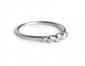 Medium Diadem Ring, sterling silver