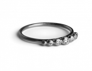 Big Diadem Ring, rhodiniertem Sterlingsilber