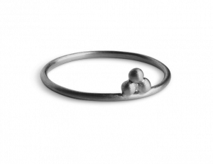 Temple Ring, rhodiniertem Sterlingsilber