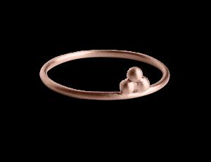 Temple Ring, rosaforgylt sølv