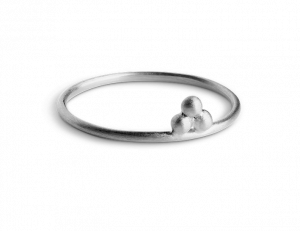 Temple Ring, sterling silver