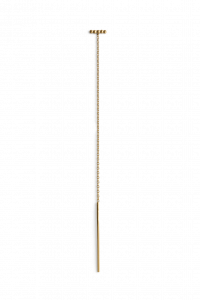Chain Earring with Ball Row, gold-plated sterling silver