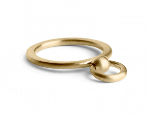 Septum Ring, forgyldt sterlingsølv