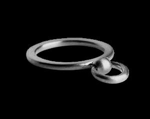 Septum Ring, rhodineret sterlingsølv
