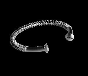 Industrial Bracelet, rhodineret sterlingsølv