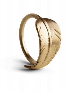 Leaf ring, vergoldetes Sterlingsilber