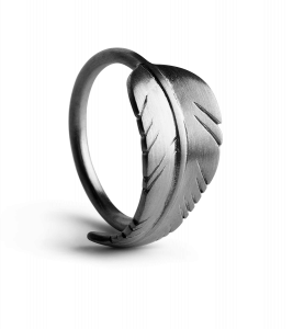 Leaf ring, rhodiniertem Sterlingsilber
