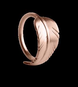 Leaf Ring, rosaforgylt sterlingsølv