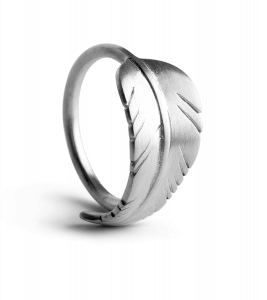 Leaf Ring, sterling sølv