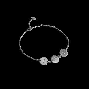 I Love You Bracelet, rhodineret sterlingsølv