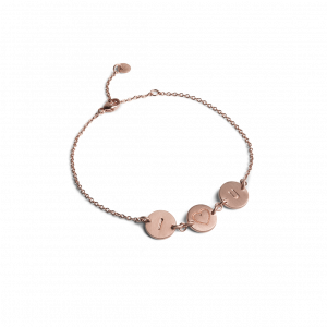 I Love You Bracelet, rosaforgyldt sterlingsølv