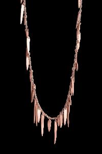 Leaf Necklace, rosaforgyldt sterlingsølv
