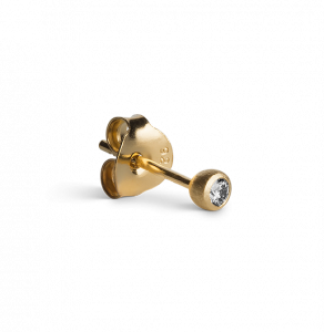 Diamond Stud 0.05 Carat, gold plated sterling silver