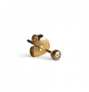 Diamond Stud 0.02 Carat, gold-plated sterling silver