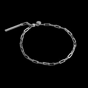 Stretched Chain Bracelet, sterlingsølv