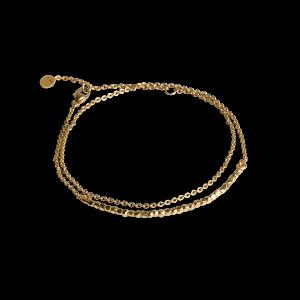 Bead bracelet with chain, vergoldetem Sterlingsilber