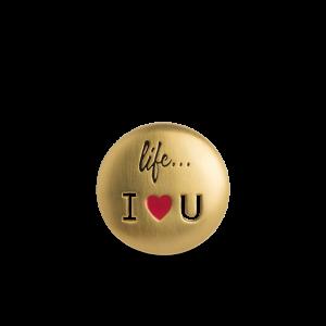 Life I Love You Badge, förgyllt silver