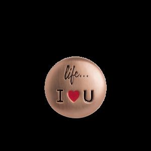 Life I Love You Badge, rosaforgylt sterlingsølv