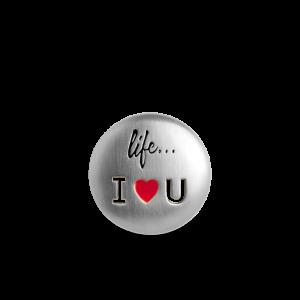Life I Love You Badge, sterling sølv