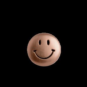 Smiley Badge, rosaforgylt sterlingsølv