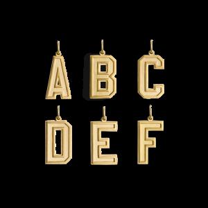 Letter Pendant, förgyllt sterlingsilver