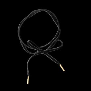 Velvet Choker in Black, förgyllt sterlingsilver