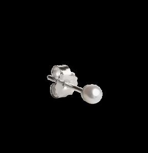 Small Pearl Stud, sterling sølv