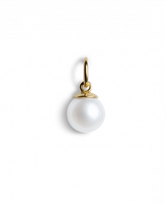 Small Pearl Pendant, gold-plated sterling silver