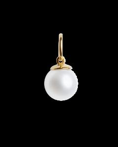 Big pearl pendant, forgyldt sterling sølv
