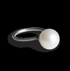 Big Pearl Ring, rodinerat sterlingsilver