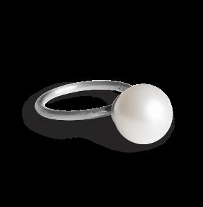Big Pearl Ring, sterlingsølv