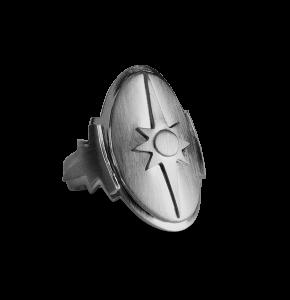 Shield Ring, rodinerat sterlingsilver
