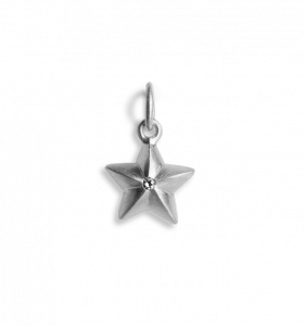 Star Pendant with 1 Diamond, sterlingsølv