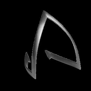 V Bracelet, rhodineret sterlingsølv