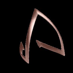 V-Armband, rosavergoldetem Sterlingsilber