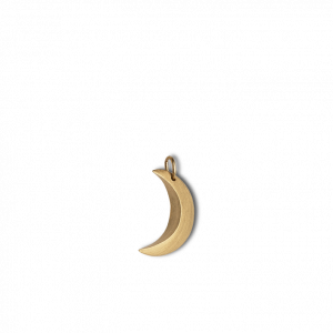 Half Moon Pendant, guldbelagt sterling sølv