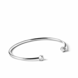 Simple Bead Bracelet, sterling silver