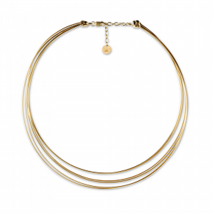 Wire Choker necklace, gold plated sterling silver