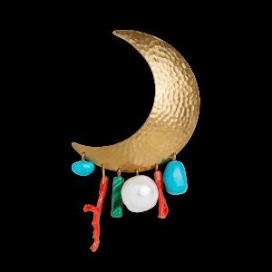 Big Moon Earring, forgylt sterlingsølv