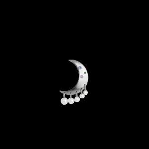 Pearl Moon Earring, Sterlingsilber